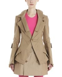 Junya Watanabe Asymmetric Trench Coat - Natural
