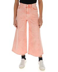Stella McCartney Cropped Flared Jeans - Pink