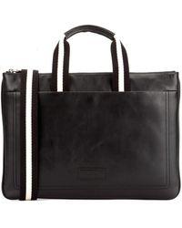 Bally Tigan Zipped Briefcase - Black
