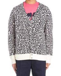 Noon Goons Leopard Print Cardigan - Black