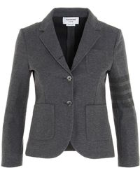 Thom Browne Double Face 4-bar Blazer - Gray