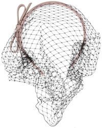 RED Valentino Netted Bow Headband - Pink