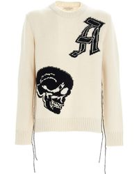 Alexander McQueen Wool Sweater - White