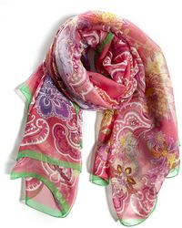 Etro - Floral Printed Scarf - Lyst