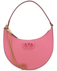 Valentino Vlogo Signature Mini Hobo Bag - Pink