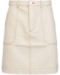 A.P.C. A-line Denim Skirt - White