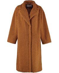 Stand Studio Maria Faux Fur Coat - Brown