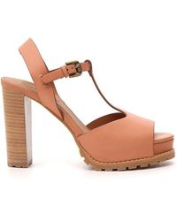 See By Chloé Platform Ankle Strap Sandals - Pink