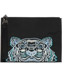 KENZO Kampus Tiger Large Pouch - Black