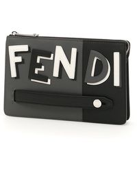 Fendi - Colour Block Logo Pouch - Lyst