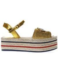 Gucci Platform Espadrille Sandals - Multicolor