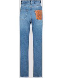 Loewe Anagram High-waisted Jeans - Blue