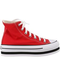 Converse Platform Chuck Taylor All Star Sneakers - Red