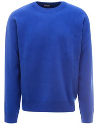 DIESEL Back Graphic Knitted Jumper - Blue