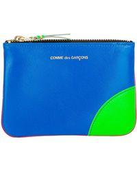 Comme des Garçons Comme Des Garçons Logo Zipped Wallet - Blue