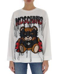 Moschino Teddy Bat Pullover - White