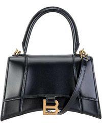 Balenciaga Hourglass Small Top Handle Bag - Black