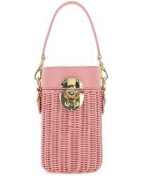 Miu Miu Logo Bucket Bag - Pink