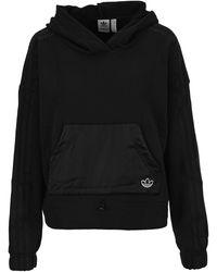 adidas Originals Fleece Cropped Hoodie - Black
