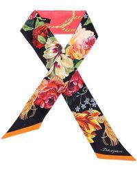 Dolce & Gabbana Floral Scarf - Multicolour