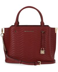 MICHAEL Michael Kors Arielle Leather Handbag - Red