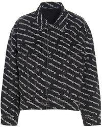 Alexander Wang All Over Logo Print Jacket - Black