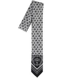 Dolce & Gabbana Printed Logo Tie - Black
