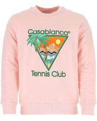 CASABLANCA Pink Cotton Sweatshirt