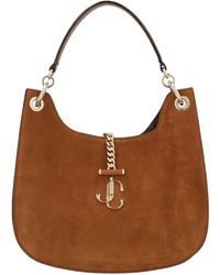Jimmy Choo Varenne Hobo Shoulder Bag - Brown