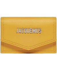 Jacquemus Le Porte Azur Strapped Flap Cardholder - Yellow