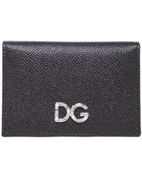 Dolce & Gabbana - Crystal Embellished Logo Coin Wallet - Lyst