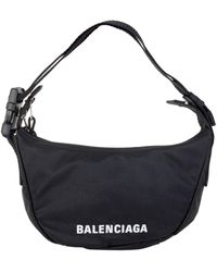Balenciaga Wheel Small Sling Shoulder Bag - Black
