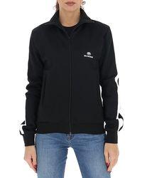 Balenciaga Zip Up Track Jacket - Black