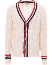 Etro Striped Trim Knitted Cardigan - White