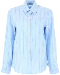 Prada Micro Logo Shirt - Blue