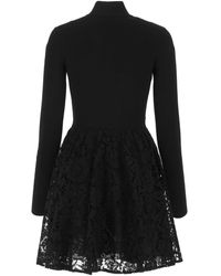 Valentino Heavy Lace Jumper Dress - Black