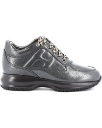 Hogan - Women's Shoes Leather Trainers Sneakers Interactive - Lyst