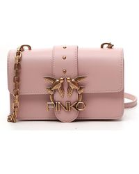 Pinko Love Icon Simply Mini Crossbody Bag - Pink
