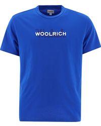 """Woolrich """"macro Logo"""" T-shirt - Blue"""