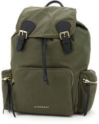 Burberry The Rucksack Large Nylon Backpack - Green