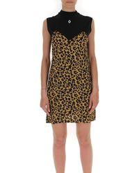 Marcelo Burlon Leopard Print Paneled Dress - Multicolor