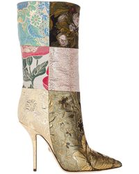 Dolce & Gabbana Patchwork Ankle Boots - Multicolor