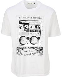 Undercover Records Print T-shirt - White