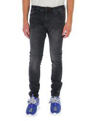 Philipp Plein Skull Embroidered Jeans - Grey