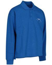 ADER error Logo Embroidered Polo Shirt - Blue