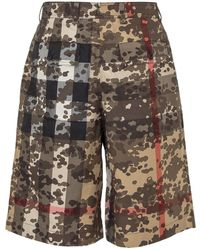Burberry Camouflage Check Tailored Shorts - Multicolour