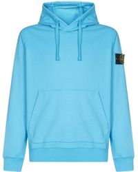 Stone Island Hooded Sweatshirt - Blue
