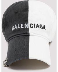 Balenciaga Two-tone Logo Baseball Cap - Black