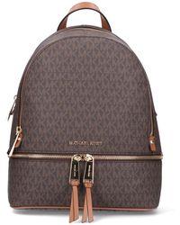 MICHAEL Michael Kors Rhea Medium Logo Backpack - Brown