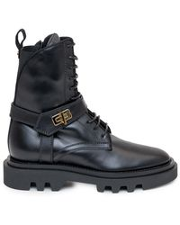 Givenchy Harness Combat Boots - Black